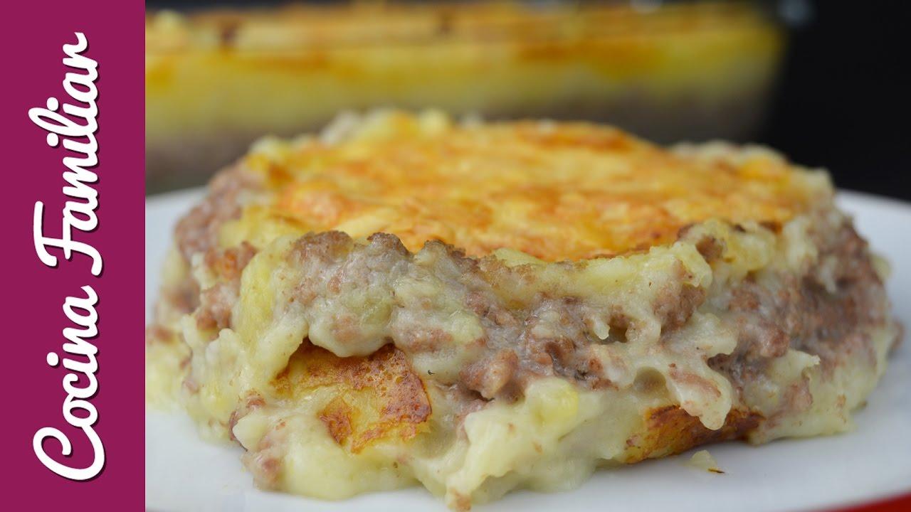 Pastel de carne gratinado con pur de patatas recetas for Javier romero cocina