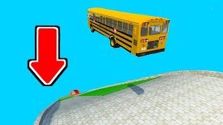 バスをメチャクチャ高い場所から落としてみた - BeamNG Drive - 実況プレイ