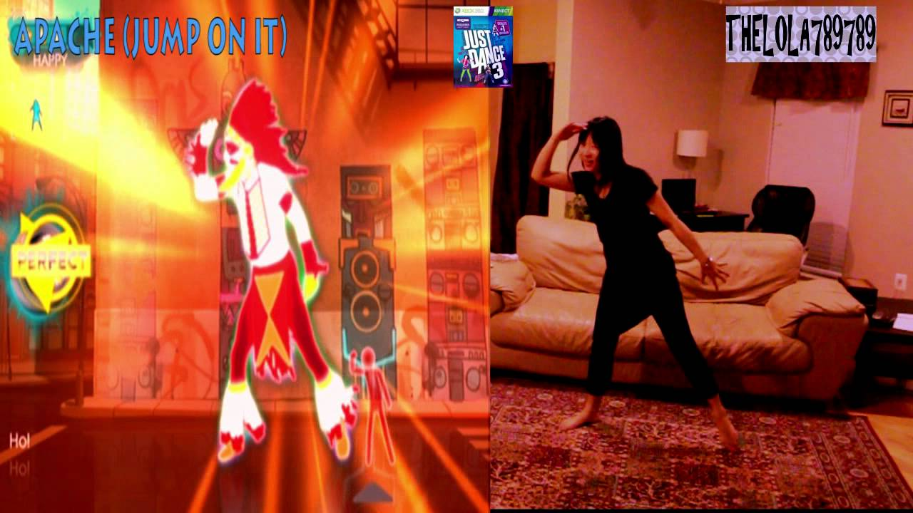 just dance 3 kinect apache jump on it youtube. Black Bedroom Furniture Sets. Home Design Ideas