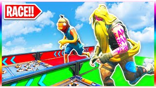 The OFFICIAL Default Deathrun Race for Noobs! - SUPER EASY?! (Fortnite Creative Mode)