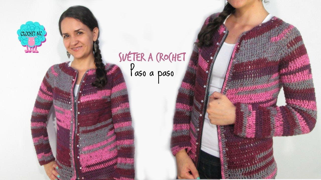 Tutorial Saco Chaqueta A Crochet Fácil Youtube