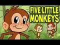 Five Little Monkeys Jumping On The Bed Animated Nursery Rhyme By The Learning Station mp3