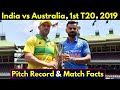 India vs Australia, 1st T20 2019, Visakhapatnam Pitch Report & Match Facts || IND vs AUS 1st T20 ||