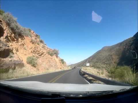Mingus Mountain & Jerome, AZ decent during the Race Across America 2015 with Media 1.