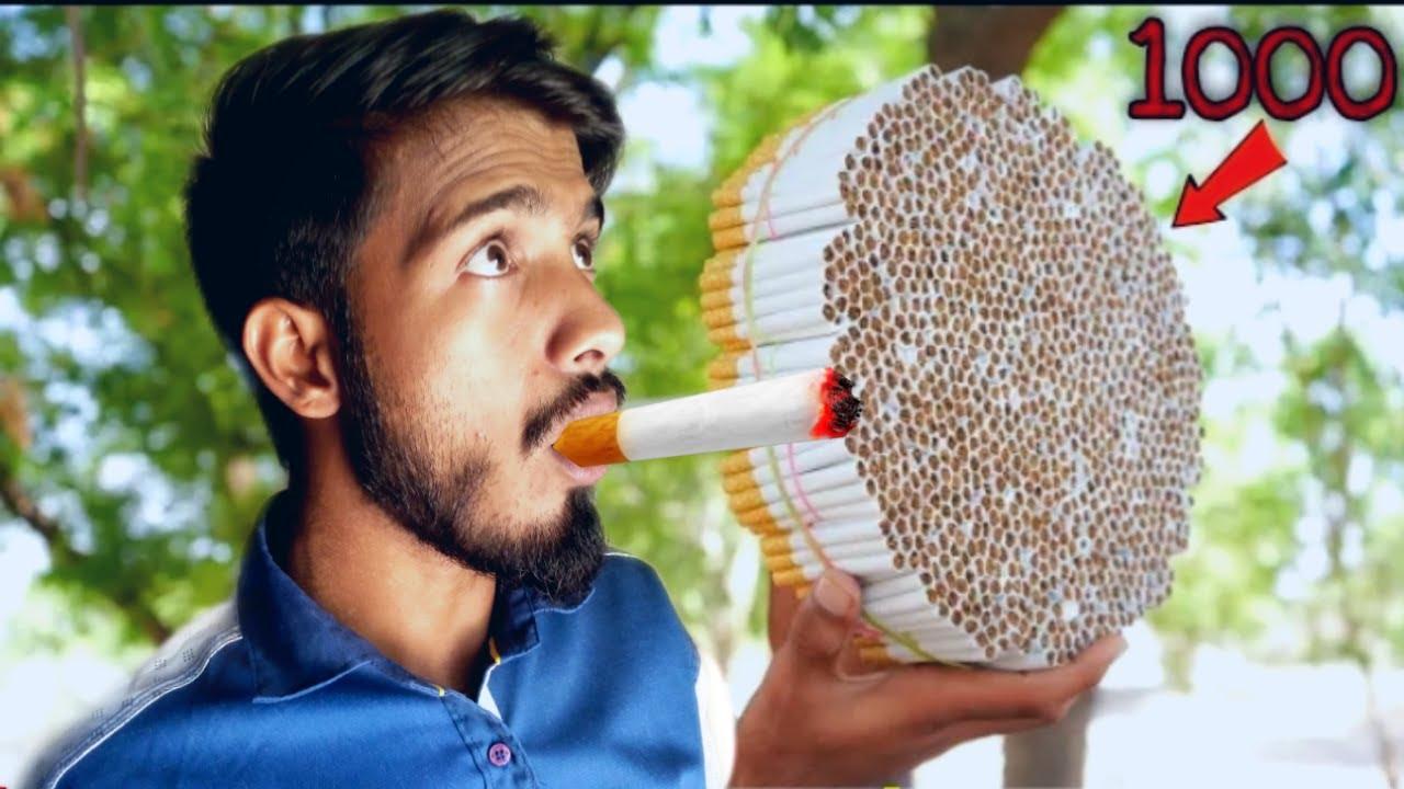 1000 सिगरेट पिने के बाद क्या होगा | What If You Smoke 1000 Cigarettes |