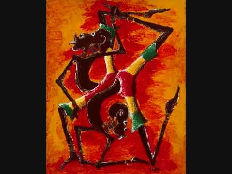 authentic modern African abstract art