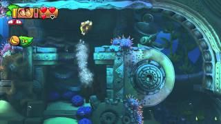 Donkey Kong Country: TF. Santuario Sumergido 4-1 - Gameplay - 100% puzzles,letras y salida secreta