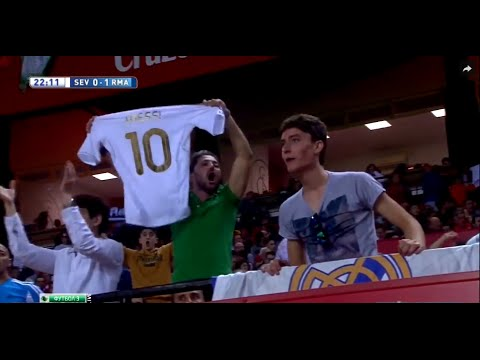 super popular 6f787 530a2 Real Madrid fans celebrating a goal with Leo Messi's shirt #WTF