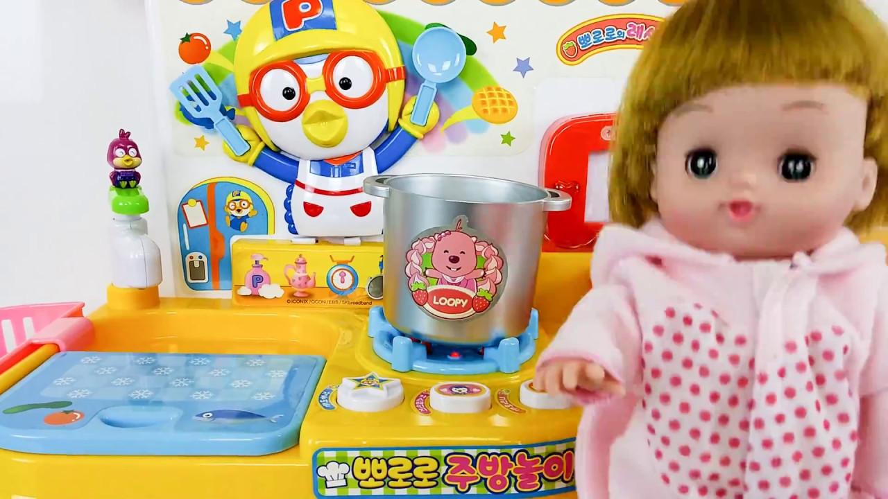 Toy Kitchen Baby Doll cooking play and Toy horse mainan dapur boneka bayi  Bermain memasak Kuda 4835bfbea6