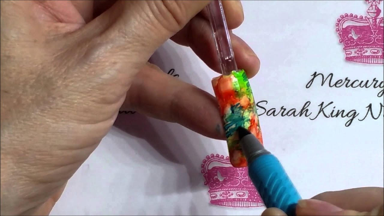 Reggae nail art video using Isopropyl Alcohol and BIC Markers - YouTube