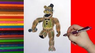 - How to draw Phantom Freddy, FNaF, Как нарисовать Фантом Фредди, ФНаФ
