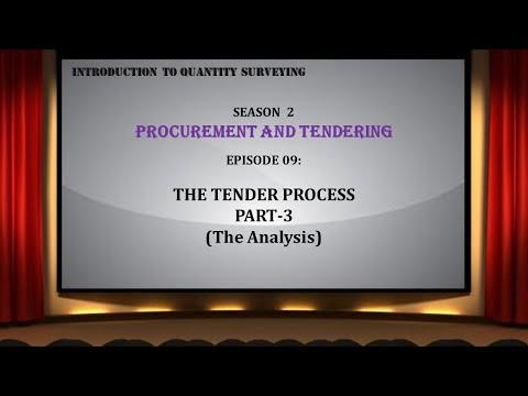 S02E09 The Tender Process Part 3 (The Analysis)