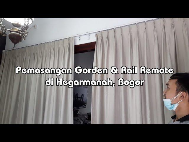 Gorden Remote | Pemasangan Rel Gorden Motorized Curtain Track di Hegarmanah, Bogor 082310989451