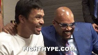PACQUIAO & MAYWEATHER CEO ELLERBE REUNITE FOR LAUGH ABOUT REMATCH; SHOTS FIRED AT BOB ARUM