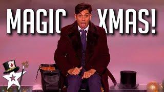 TOP Magicians Join Britain's Got Talent on XMAS Special! | Magicians Got Talent