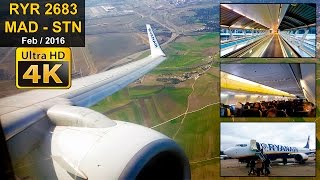 FLIGHT EXPERIENCE | Madrid - London Stansted | RYANAIR B737
