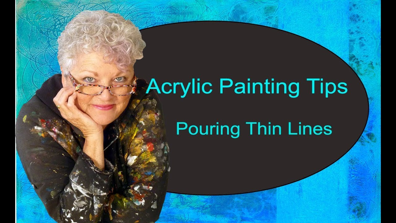 How to Pour Thin Lines in Acrylic - YouTube