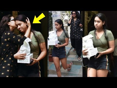 Nysa Devgan upset and angry with mom  Kajol in front of media Shocking