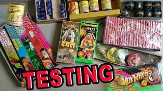 FIRECRACKER TESTING   Diwali 2018 Firecracker testing