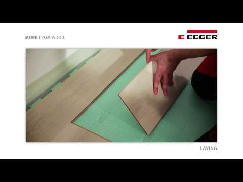 EGGER Laminate Flooring - Installation with UNIfit!