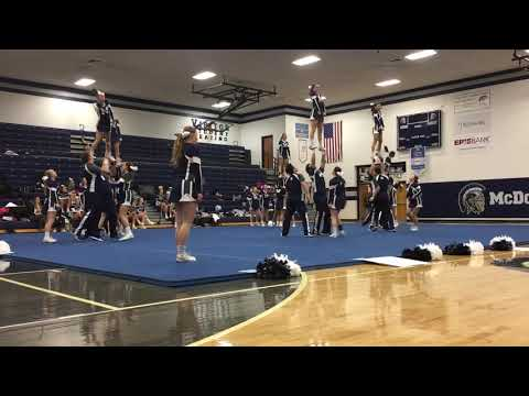 McDowell's District 10 competitive spirit meet routine, December 15, 2018