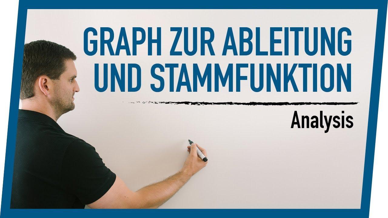 Graph zur Ableitung und Stammfunktion | Mathe by Daniel Jung