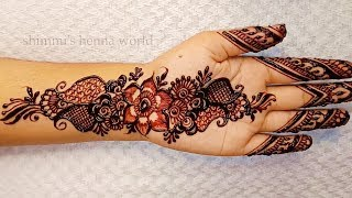 Simple Easy mehndi designs for Palm for the Beginners