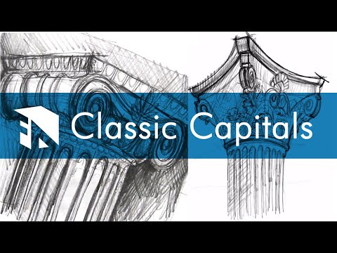 Doric Columns And Ionic Columns - How To Draw Greek Temple Architectural Columns