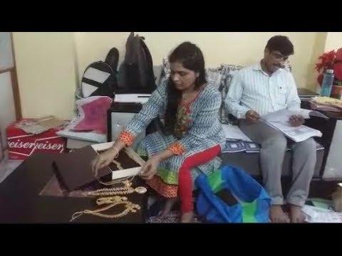 Raid At B.Jyothi Kiran Excise Department Superintendent In Nizambad   @ SACH NEWS  