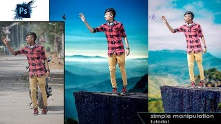 Outdoor portrait manipulation | Photoshop Cc Tutorial(In Tamil)