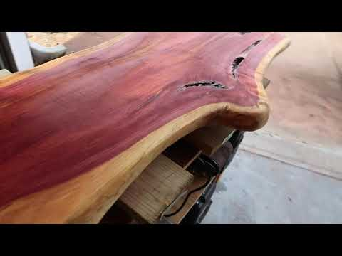 Refinishing Cedar Slab Wood With Fiberglass Resin