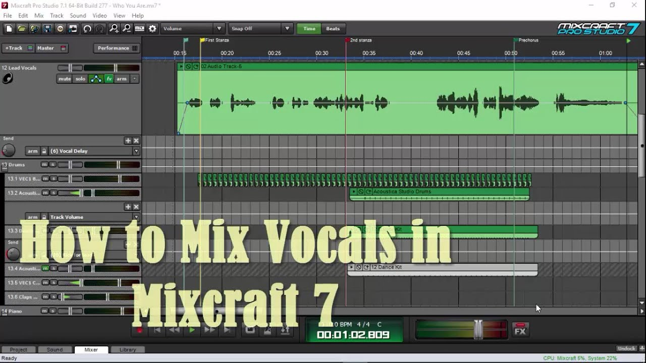 how to mix vocals in mixcraft 7 youtube. Black Bedroom Furniture Sets. Home Design Ideas