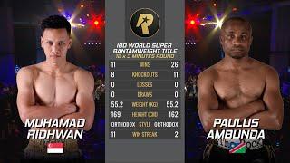 ROSG5 : Muhamad Ridhwan vs Paulus Ambunda