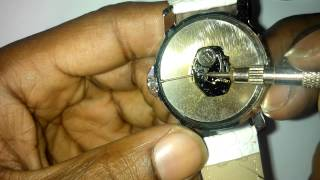 WRISTWATCH REPAIR: How to remove and replace winder, stem and crown from a watch