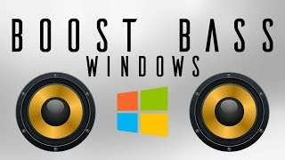 How to boost bass on Windows