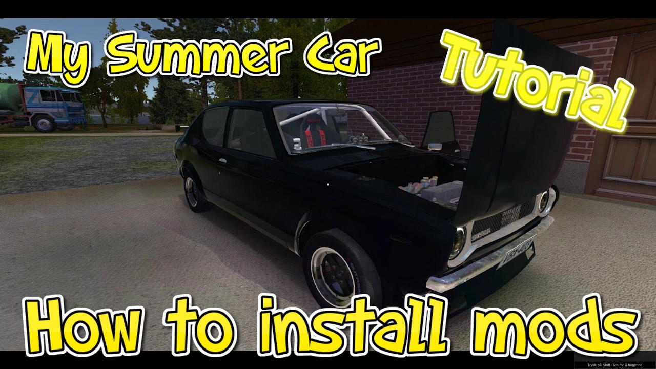 How To Install Mods Tutorial My Summer Car Rwd Satsuma