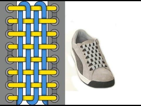 Двухцветная шнуровка кроссовок с 6 дырками