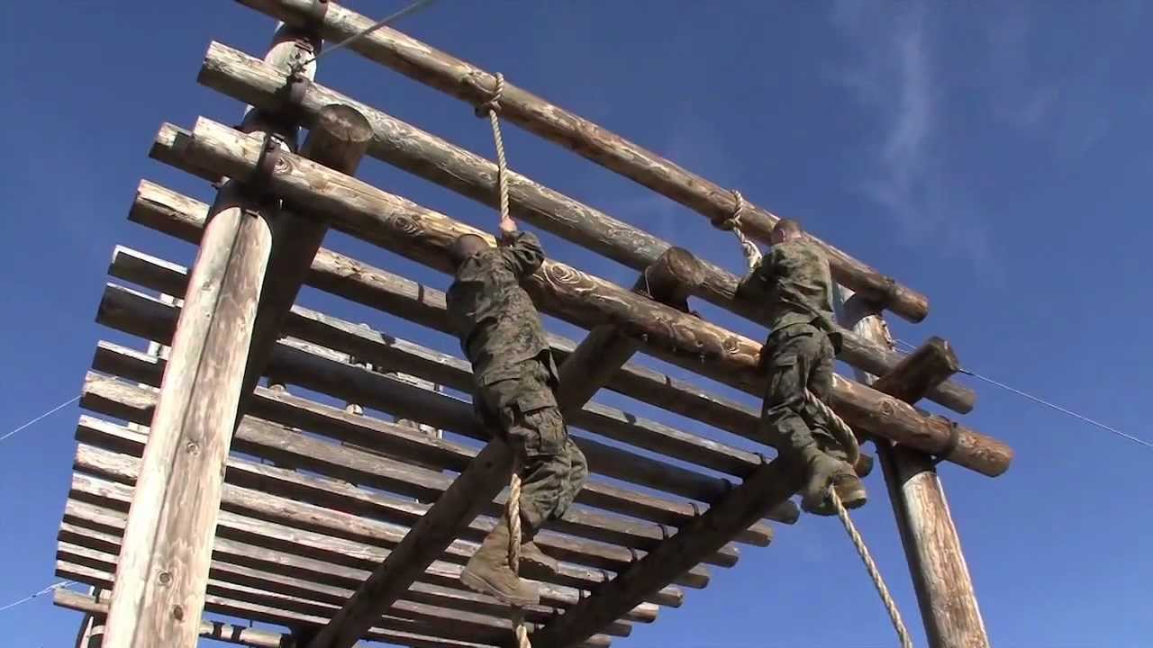Us Marine Corps Recruit Training Confidence Course Youtube