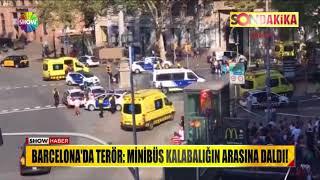 Barcelona'da terör: Minibüs kalabalığın arasına daldı!