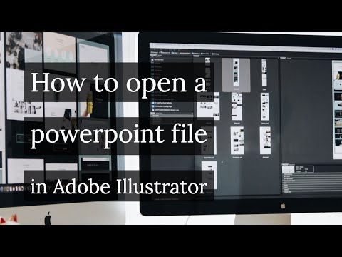 Cách mở tệp powerpoint trong Adobe Illustrator