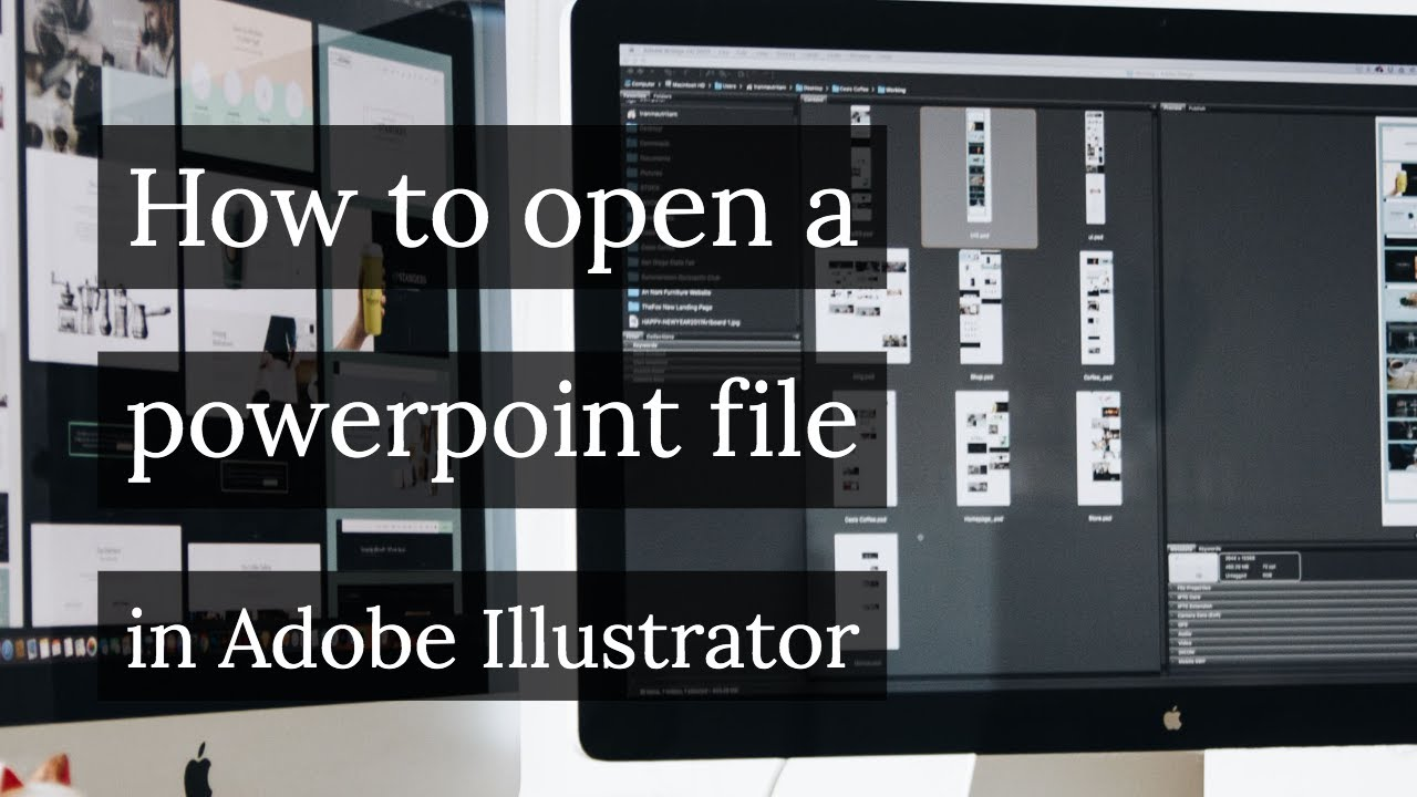 How to open a powerpoint file in adobe illustrator youtube toneelgroepblik Images
