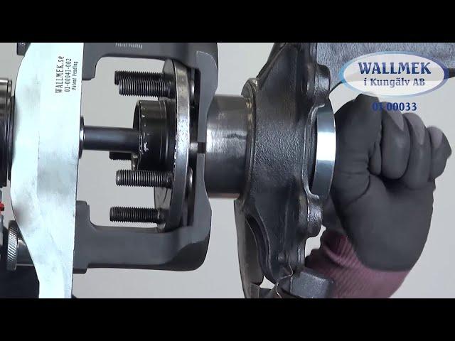 Compacte HBU 2.1 en HBU 3 wiellagers vervangen zonder beschadigen met Wallmek speciaal gereedschap