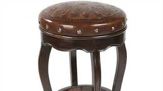 How To : Cover A Round Wooden Bar Stool