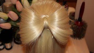Бантик из волос | Hair bow(Видео о том как сделать бантик из волос своими руками на длинные волосы. | Hair of bow ---------------------------------------------------..., 2015-05-20T10:59:45.000Z)