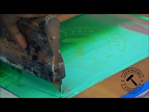 Screen Printing montage - CSUN Printmaking Society