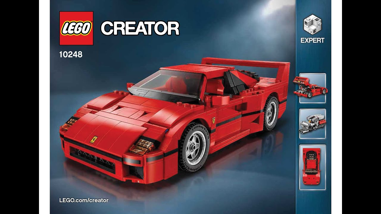 lego 10248 ferrari f40 instructions lego creator expert 2015 advanced model youtube. Black Bedroom Furniture Sets. Home Design Ideas