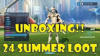 Overwatch | 24 Summer Loot Unboxing