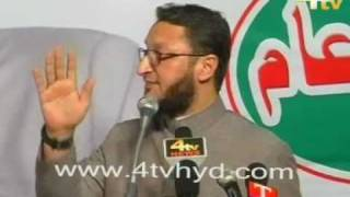 4tv exclusive: asad uddin owaisi program at khilwath ground.