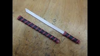 How to make a Paper Sword   Ninja Sword Tutorial