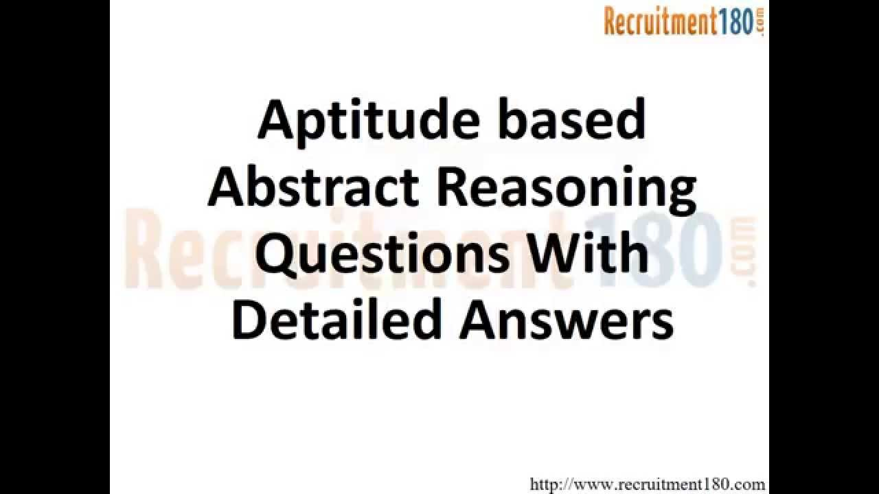 Aptitude based Abstract Reasoning Questions with detailed